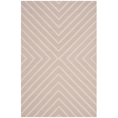 Claro X Pattern Hand-Tufted Pink/Ivory Area Rug Rug Size: 4 x 6