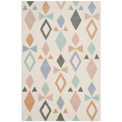 Claro Hand-Tufted Ivory Area Rug Rug Size: 8 x 10