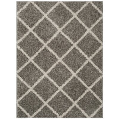 Helsel Gray Area Rug Rug Size: Rectangle 51 x 76