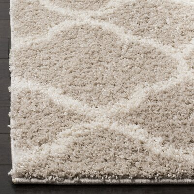Helsel Light Gray/Ivory Area Rug Rug Size: 9 x 12