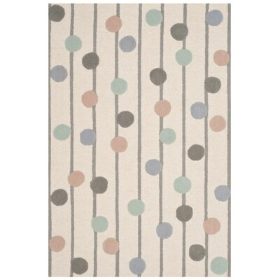 Claro Hand-Tufted Ivory Area Rug Rug Size: Rectangle 4 x 6