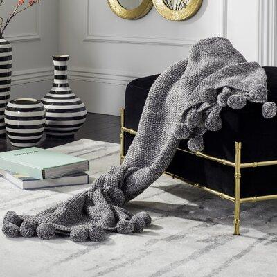 Granite Range Pom Pom Knit Cotton Throw