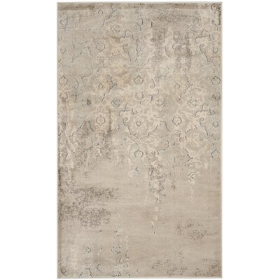 Vintage Gray/Ivory Area Rug Rug Size: Rectangle 33 x 53