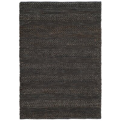Jean Natural Fiber Hand-Woven Charcoal Area Rug Rug Size: Rectangle 4 x 6