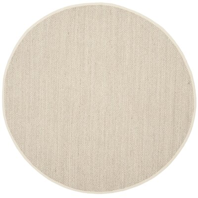 Monadnock Marble/Beige Area Rug Rug Size: Round 4