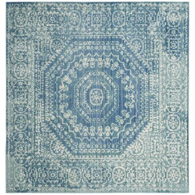 Thanh Blue Area Rug Rug Size: Square 67