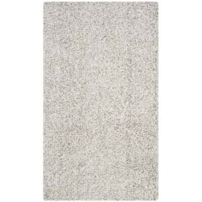 Otley White/Light Gray Area Rug Rug Size: 53 x 76