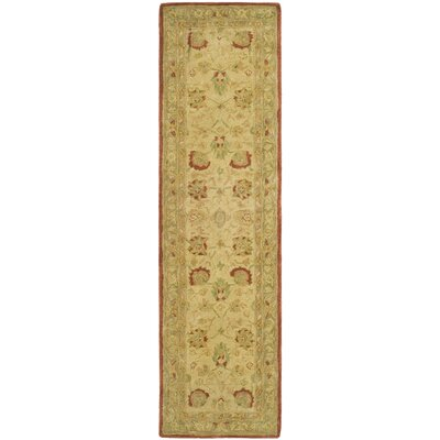 Anatolia Ivory/Rust Area Rug Rug Size: Runner 23 x 10