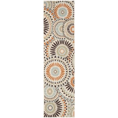 Caroline Indoor/Outdoor Rug in Chocolate Rug Size: Runner 23 x 8