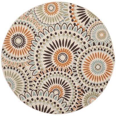 Caroline Indoor/Outdoor Rug in Chocolate Rug Size: Round 67