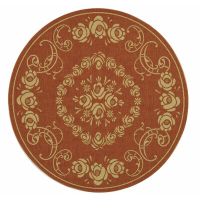 Courtyard Terra/Natural Outdoor Rug Rug Size: Round 5'3
