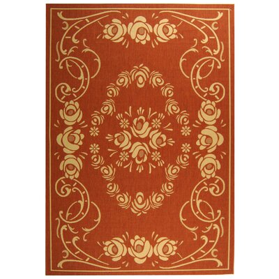 Courtyard Terra/Natural Outdoor Rug Rug Size: 6'7