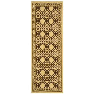 Courtyard Natural/Brown Outdoor Rug Rug Size: Runner 2'4