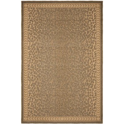 Courtyard Natural / Gold Outdoor Rectangular Rug Rug Size: 67 x 96