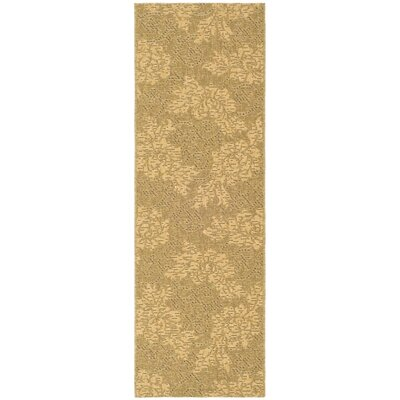 Courtyard Gold & Natural Outdoor Area Rug Rug Size: Runner 2'2