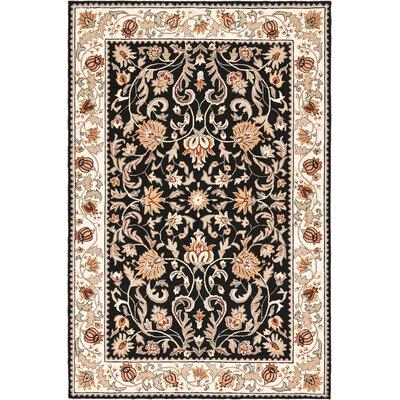 DuraRug Black / Ivory Oriental Rug Rug Size: 6 x 9