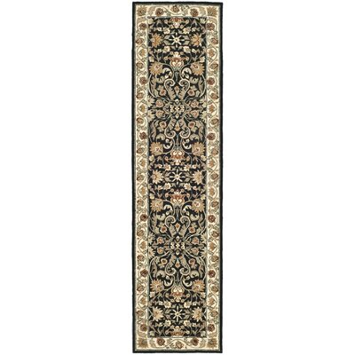 DuraRug Black / Ivory Oriental Rug Rug Size: Runner 2'6