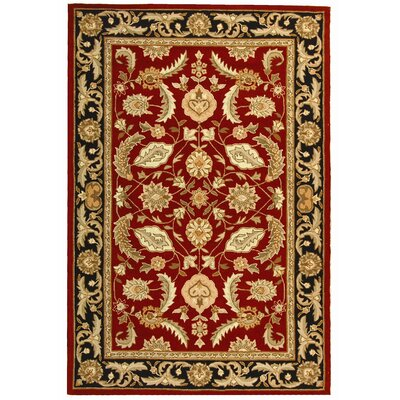 DuraArea Rug Red Area Rug Rug Size: Rectangle 4 x 6