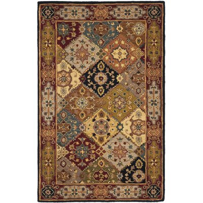 Balthrop Hand-Tufted Red Rug Rug Size: Rectangle 5 x 8