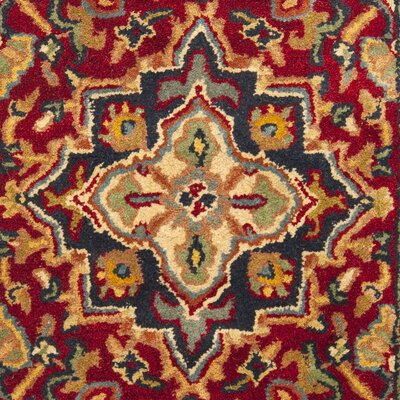 Balthrop Red Oriental Area Rug Rug Size: Rectangle 2'3