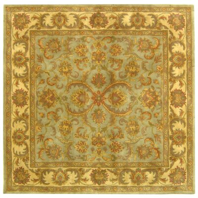 Taylor Hand-Tufted Wool Green/Beige Area Rug Rug Size: Square 6