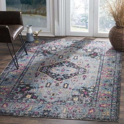 Bunn Light Gray Area Rug Rug Size: Rectangle 4 x 6