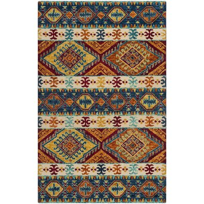 Bobigny Hand-Tufted Navy Area Rug Rug Size: Rectangle 5 x 8
