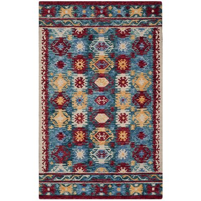 Bobigny Hand-Tufted Blue Area Rug Rug Size: 7 x 7 Square