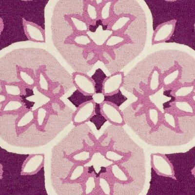 Blokzijl Hand-Tufted Pink/Ivory Area Rug Rug Size: Square 5'