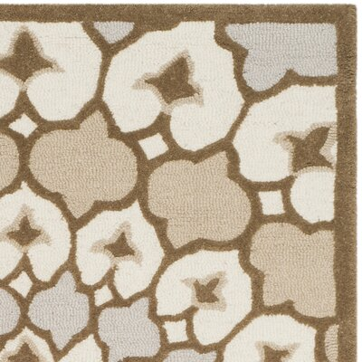 Bellagio Hand-Tufted Wool Ivory/Dark Beige Area Rug Rug Size: Rectangle 3 x 5
