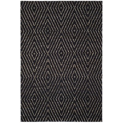 Pace Hand-Woven Black Area Rug Rug Size: 2 x 3