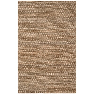 Pace Hand-Woven Natural/Ivory Area Rug Rug Size: 3 x 5