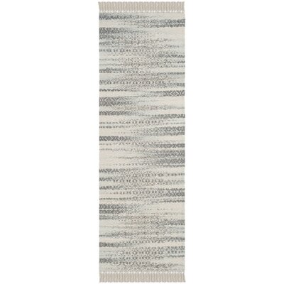 Redbrook  Hand-Tufted Gray/Ivory Area Rug Rug Size: Runner 23 x 7