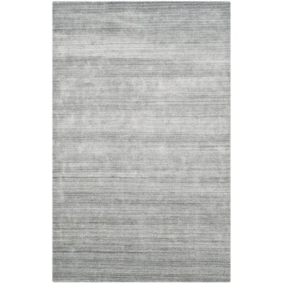 Leontine Hand-Loomed Ivory/Gray Area Rug Rug Size: Rectangle 6 x 9