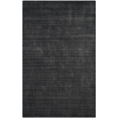 Leontine Hand-Loomed Charcoal Area Rug Rug Size: Rectangle 9 x 12