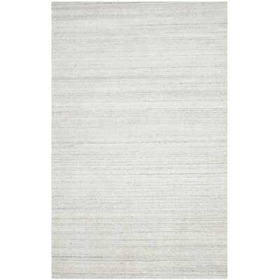 Leontine Hand-Loomed Light Gray Area Rug Rug Size: 6 x 9