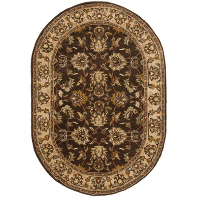 Cranmore Brown/Ivory Area Rug COLOR: Brown / Ivory, Rug Size: Oval 46 x 66