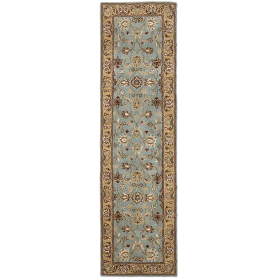 Cardwell Hand-Tufted Blue/Beige Area Rug Rug Size: Runner 23 x 22