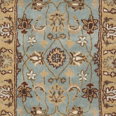 Cardwell Hand-Tufted Blue/Beige Area Rug Rug Size: Runner 23 x 8