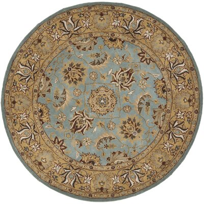 Cardwell Hand-Tufted Blue/Beige Area Rug Rug Size: Round 8
