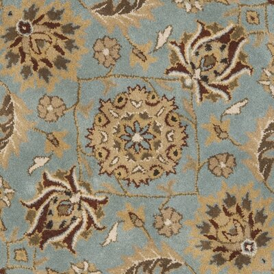 Cardwell Hand-Tufted Blue/Beige Area Rug Rug Size: Round 6