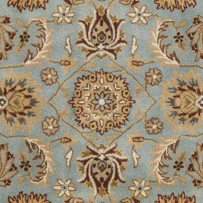 Cardwell Hand-Tufted Blue/Beige Area Rug Rug Size: Square 6