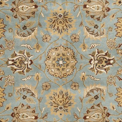 Cardwell Hand-Tufted Blue/Beige Area Rug Rug Size: Rectangle 7'6