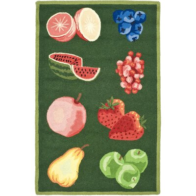 Isabella Green Savoy Fruit Novelty Area Rug Rug Size: 5'3