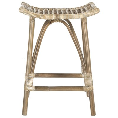 Armand 25.2 Bar Stool Color: Gray White Wash