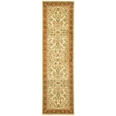 Taufner Brown/Orange Area Rug Rug Size: Runner 23 x 10