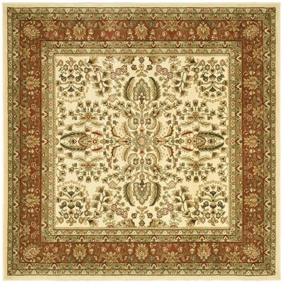 Taufner Brown/Orange Area Rug Rug Size: Square 8