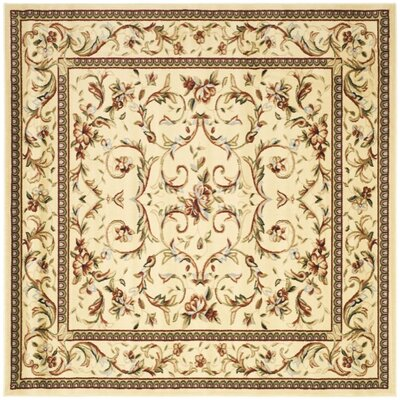 Taufner Ivory Area Rug Rug Size: Square 6