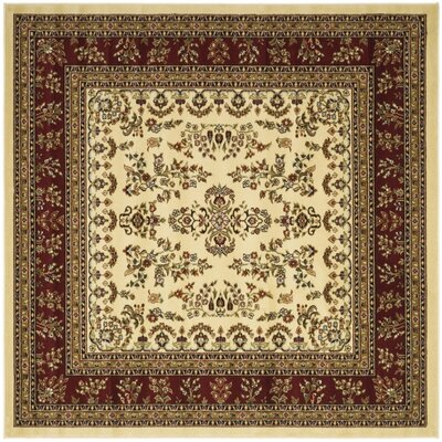 Ottis Ivory/Red Area Rug Rug Size: Square 6
