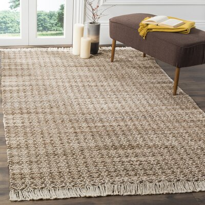 Redbrook Hand-Tufted Beige/Ivory Area Rug Rug Size: Rectangle 4 x 6